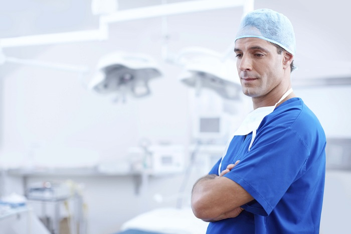 cosmetic surgeon in his operating room