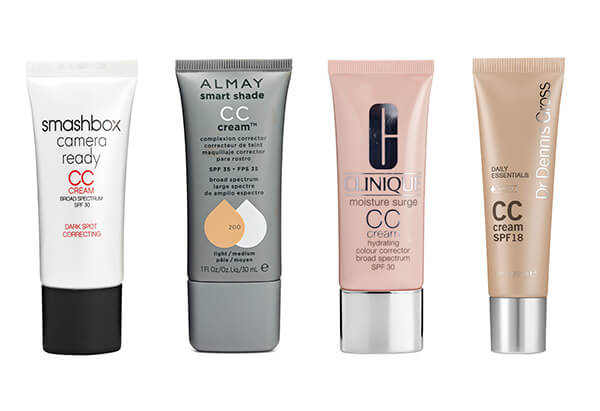 several cc cream options from different cosmetics companies