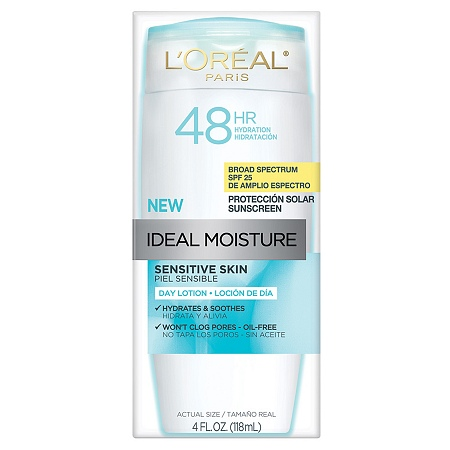 L'Oreal Sensitive Skin Day Lotion, the best moisturizer for sensitive skin