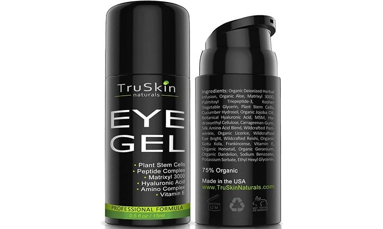 TruSkin Naturals Eye Gel with jojoba oil, green tea and shea butter