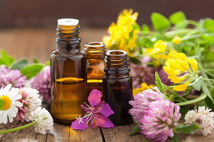 small bottles of essential oils