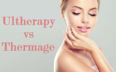 beautiful woman deciding between ultherapy and theramge