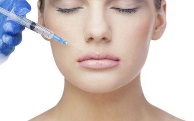 woman using dermal filler