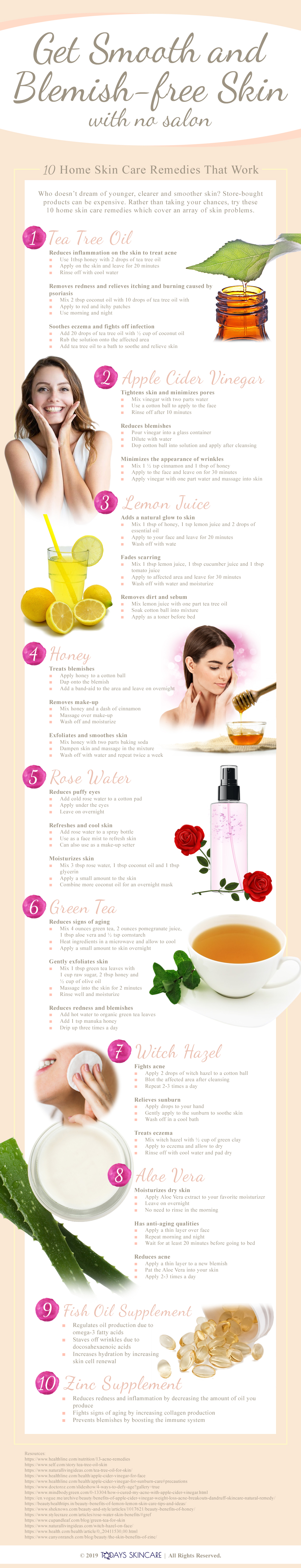 Top 10 Home Skin Care Remedies That Work