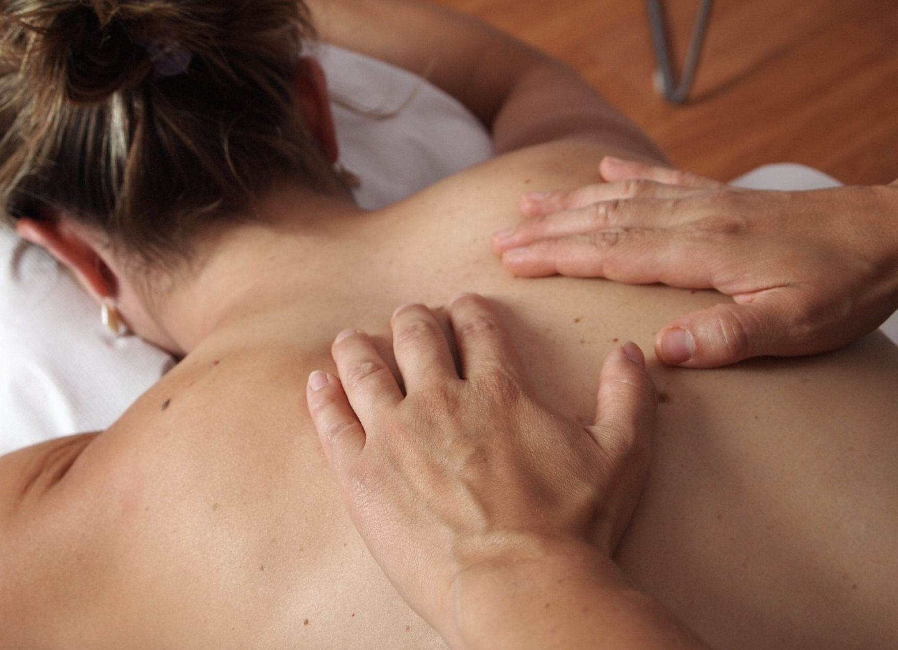 massaging the back